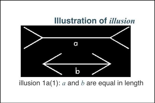 Illustration of an illusion